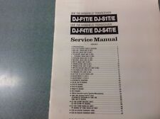 Alinco DJF1T/E + DJF4E etc Service manual genuine Alinco