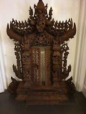 More details for antique burmese wooden buddha shrine throne