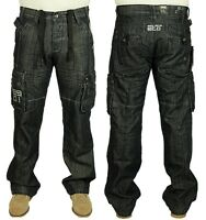 Mens New ETO 9901 Smart Casual Regular Fit Designer Cargo Combat Work Jeans