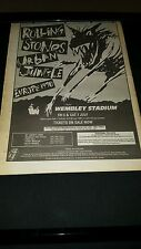 Rolling Stones Urban Jungle Rare 1990  Europe Tour Promo Poster Ad Framed!