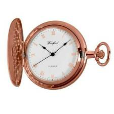 Full Hunter Lever Analog Gold Plated Pocket Watches
