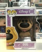 ⭐️Disney- Up Movie- Dug Flocked Exclusive #201 Funko Pop + Pop Protector⭐