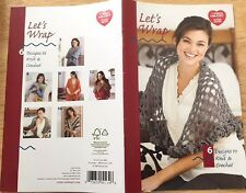 pattern LETS WRAP 6 design to knit & crochet RED HEART yarn shawl capelet cape