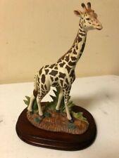 1986 Andrea by Sadek -Giraffe with Wood Base - #7664