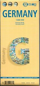 Map of Germany (Deutschland) Laminated & Folded by Borch Maps