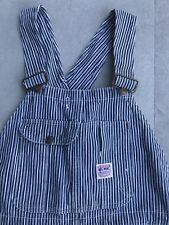 Vintage 1940's Big Mac Penneys Overalls Railroad Stripe Hickory S M Workwear 30s