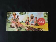 Buvard vintage de la marque COCA COLA, pour collectionneur Décor Scouts , 19 cm
