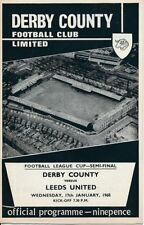 League Cup Teams C-E Derby County Final Football Programmes