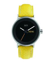 Armbanduhren mit Armband aus echtem Leder und Edelstahl für Damen