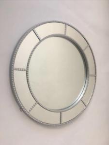 Round Circular Silver Window Mirror Crafted with a circular design industrial