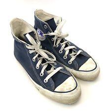 631bca2a32d Converse Men s 4.5 (women s 6.5) High Top Sneakers Blue Canvas Shoes USA  Made