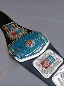 NWA Missouri State Heavyweight Wrestling Championship Belt, 4mm Zinc Plates.