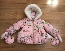 01b72cb4ab4b Ted Baker - Baby girls  pink padded coat and mittens set Size 6-9
