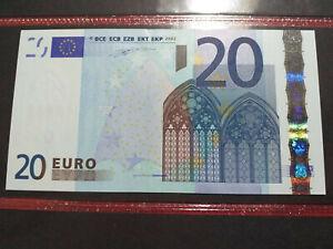 BANCONOTA DA 20 EURO RARA DUISEMBERG J003