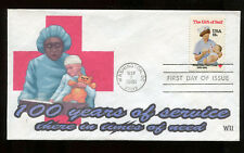 #1910 18c American Red Cross FDC WII Color Laser Cachet  UA FD5892