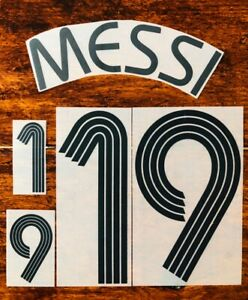 2006/07 Argentina #19 Messi World Cup Home Soccer Jersey Name Set