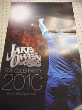 Jake Owen Fan Club Party 2010 Promo Mini Poster