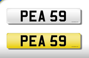 PEA 59 CHERISHED NUMBER PERSONAL PLATE