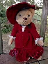 "Brass Button Pickford Bears GABRIELLE Red Velvet Antique Miss Kitty Bear 9"" RARE"