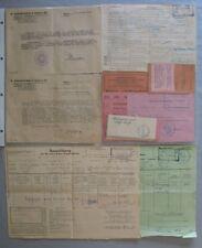 Historische Dokumente Meldebescheinigung Korrespindenz Military Government