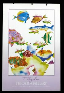 """Tracy Taylor -  """"Bait Me 89'""""- 1990 - The Zoo Gallery -  Offset Poster"""