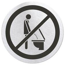 Signo Please Sit Down Door Sign by Blomus - Metallic