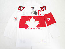 SIDNEY CROSBY TEAM CANADA WHITE SOCHI 2014 OLYMPICS NIKE HOCKEY JERSEY SZ MEDIUM