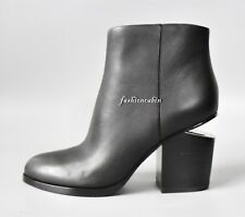New ALEXANDER WANG Gabi Leather Cut Out Ankle Boots Shoes, Black, EUR35.5, $675