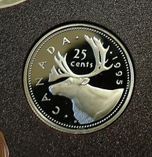 1995 SPECIMEN PROOF CANADA Canadian quarter 25 twenty five cents frosted cameos