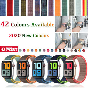 Nylon Woven Loop Sport Strap Band 38 40 42 44mm for Apple Watch Series 123 4 5 6