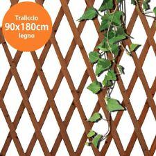 Traliccio Rete Legno 90x180cm Estendibile Griglia Piante Rampicanti Giardino