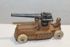 VINTAGE 1930's MANOIL  ARMY  MILITARY CANNON TRUCK