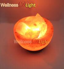 WDL HIMALAYAN ROCK SALT FIRE BOWL LAMP WITH CHUNKS IDEAL NIGHT LIFE CORD BULB