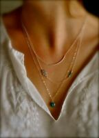Hot Fashion Woman Multilayer Evil Eye Choker Long Chain Pendant Necklace