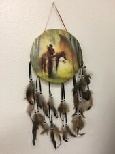 """VTG Mixed Media Handcrafted Wall Decor """"Homecoming"""", American Indian, Plains"""