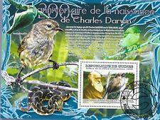 GUINEA 2009 CHARLES DARWIN MINT VF NH O.G S/S CTO (GU13 )