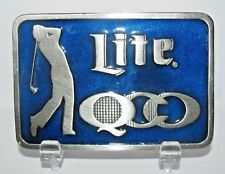 Miller Lite Beer 1985 QCO Quad City Open Golf Tournament Belt Buckle Lt Ed #158