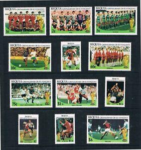 "St.Vincent & Grenadines - Bequia - 1986 "" Football "" - Sc 218-229 [ Sg N / Un ]"