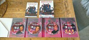 QUEER AS FOLK COLLECTORS EDITION 1-2 US 4 DISC DVD BOX SET R2 VGC