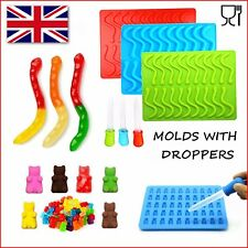 Snakes Worms And Gummy Bears Silicone Mold Chocolate Jelly Mould Ice Tray