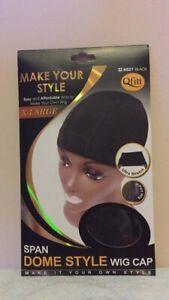 M&M Span Dome Style Wig Cap Black  X Large # 50272 Packs