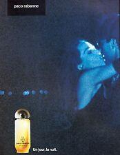 ▬► Parfum Perfume Paco RABANNE La Nuit Original French Print ad Publicité 1989