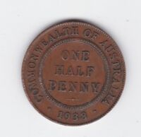 1938 Half Penny Halfpenny Coin Commonwealth of Australia  E-485