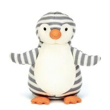 "New Plush 8"" Little Jellycat Shiver Penguin Grey Striped Chime Toy Jellykitten"