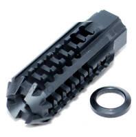 Black Skeleton Low Concussion Muzzle Brake Compensator 1/2x28 TPI For 223