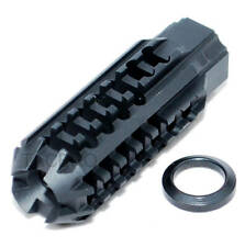 Black Skeleton Low Concussion Muzzle Brake Compensator 1/2x28 TPI For 223