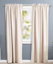 AmazonBasics Room Darkening Thermal Insulating Blackout Curtain Set with Ties