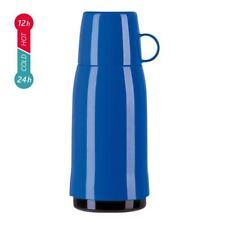 Emsa ROCKET Vacuum Flask Screw Top, Blue, 1.0 Litre / 33.8 Fl.oz