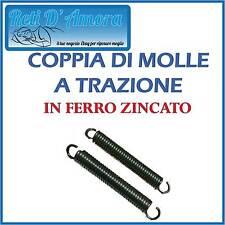 COPPIA DI MOLLE A TRAZIONE IN FERRO ZINCATO