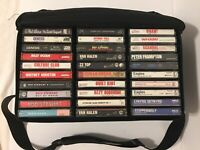 Lot Of 60 - 80s Classic Rock / Pop Rock Vintage Cassette Tapes With Carry Case